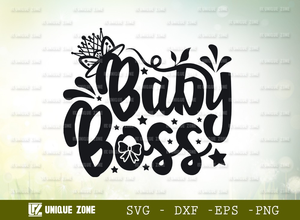 Baby Boss SVG Cut File | Mini Boss Svg | New Baby Svg