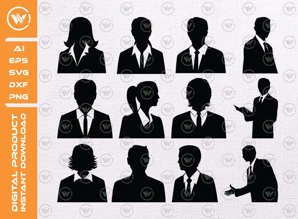 Business Avatars SVG | Gentleman Avatars Silhouette