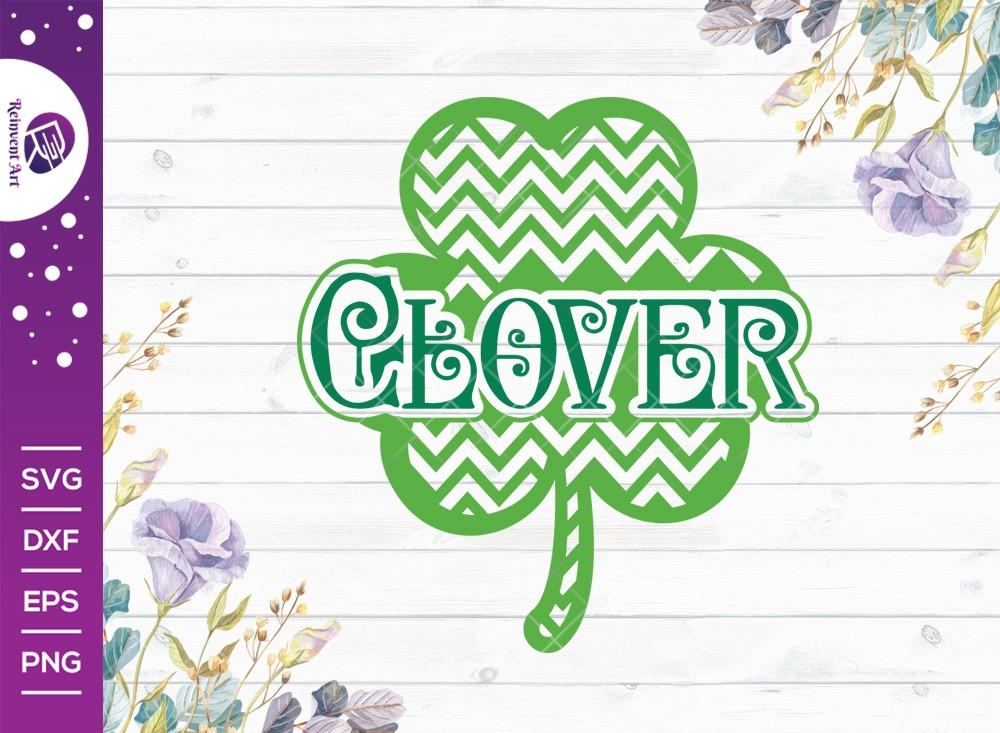 Clover SVG Cut File | Lucky Clover SVG | Shamrock