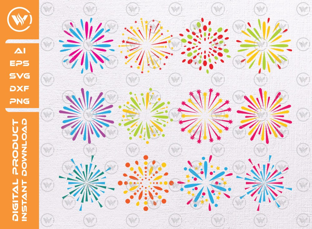 Fireworks 4th of July SVG | Fireworks SVG Cut File