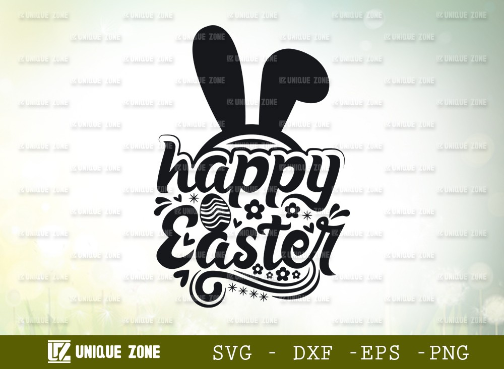 Happy Easter SVG Cut File | Easter Svg