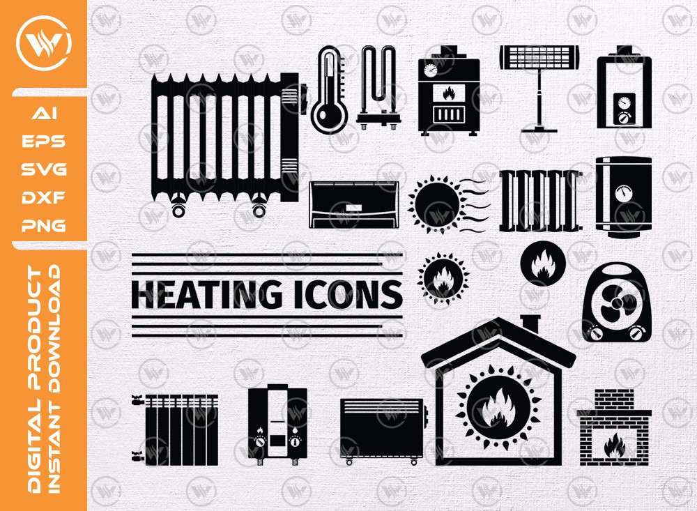 Heating icon SVG | Heating Silhouette | Heating icon