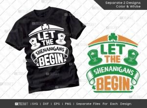 Let The Shenanigans Begin SVG Cut File | St Patricks Day Svg