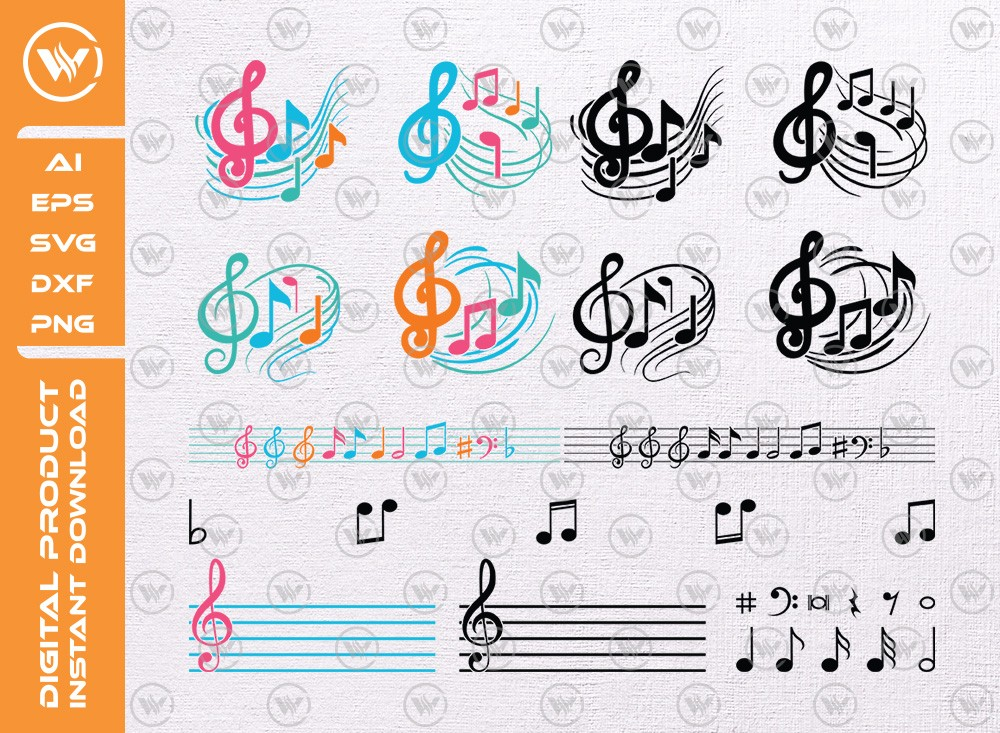 Music SVG | Music levels SVG | Music icon SVG Cut File