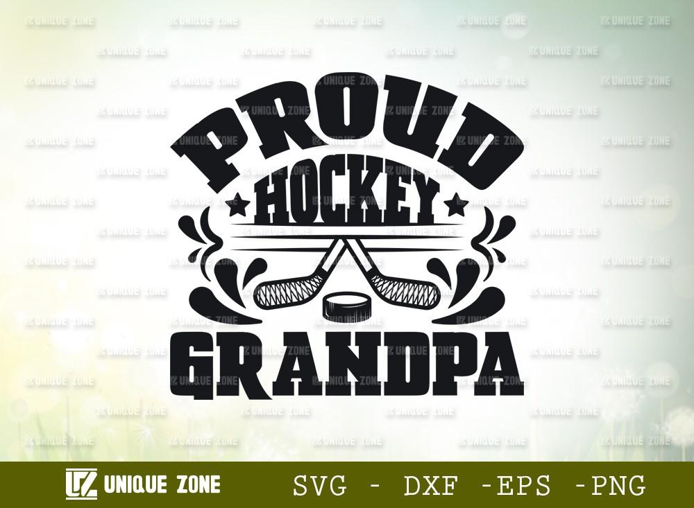 Proud Hockey Grandpa SVG Cut File | Best Grandpa Ever Svg