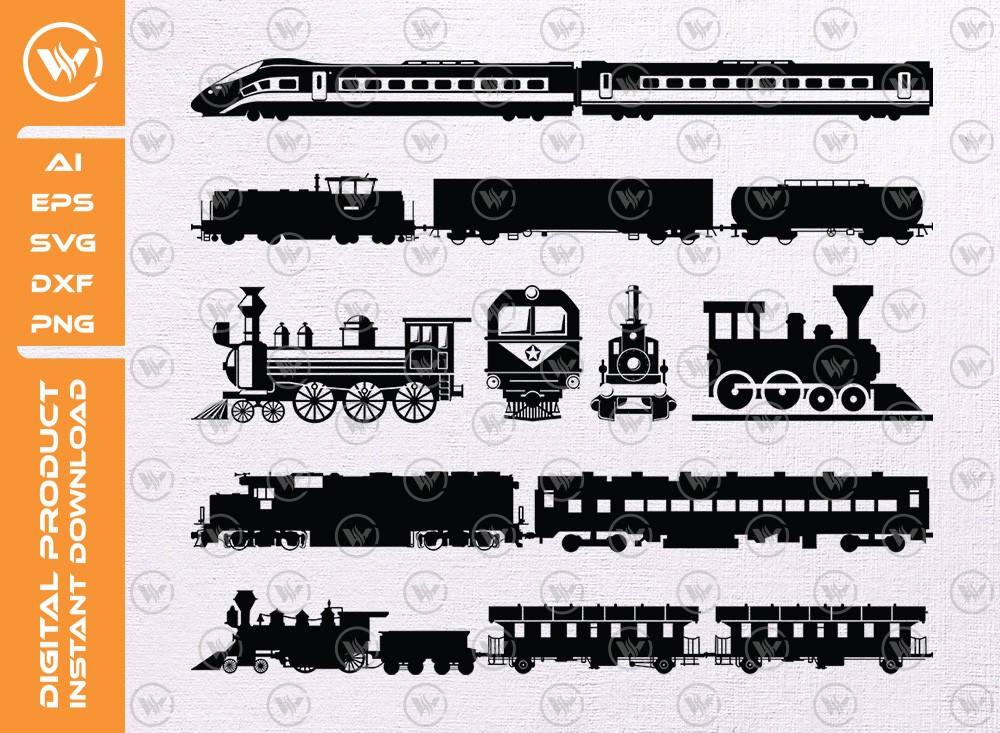 Train SVG | Train Silhouette | Train Icon SVG Cut File
