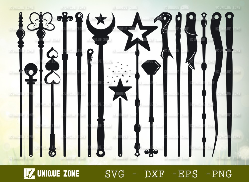 Wands SVG Cut File | Wizard Witches Spells Svg