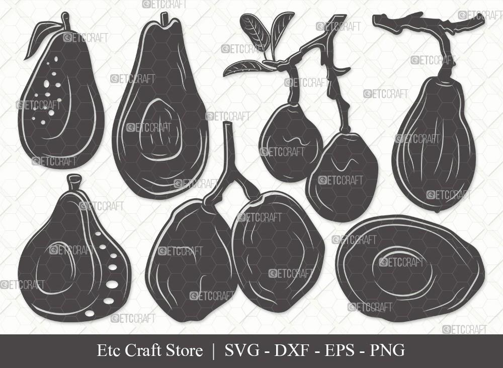 Avocado Silhouette SVG Cut File | Avocado Svg