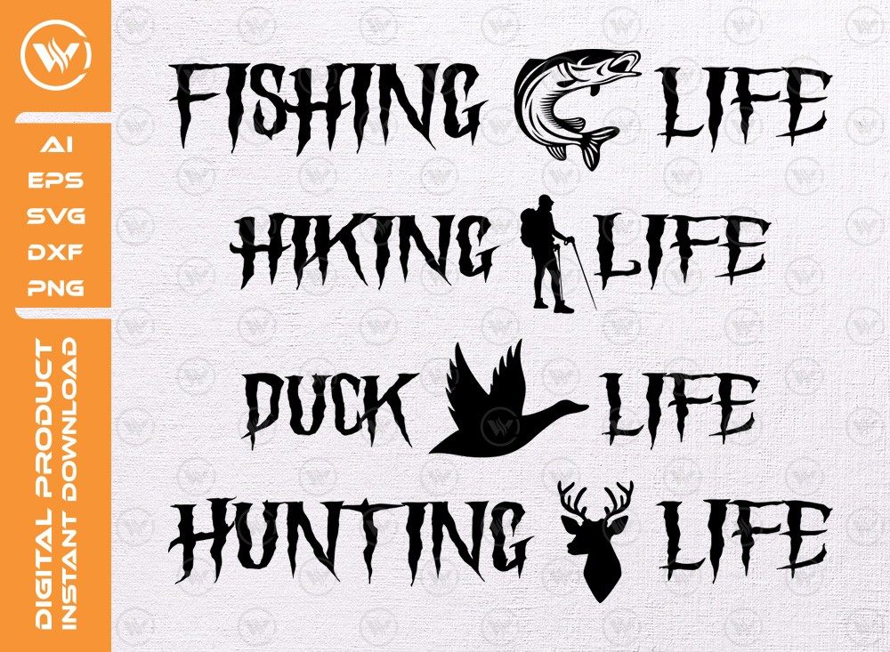 Hunting Svg Bundle | Hunting Life Svg | Duck Life