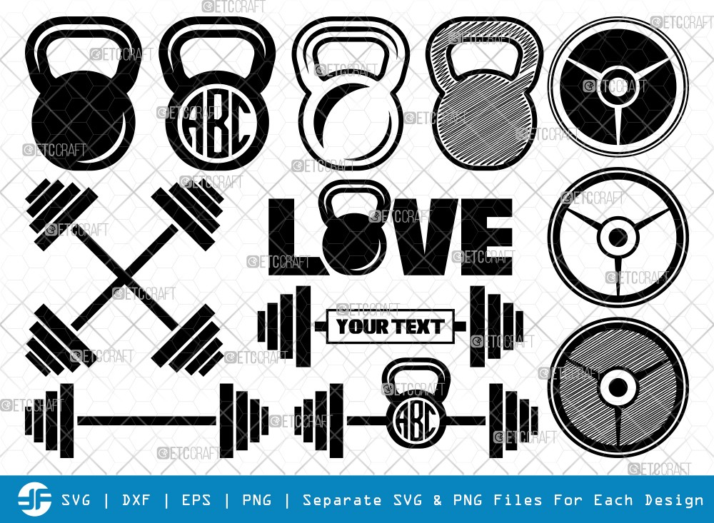 Kettlebell SVG Cut Files | Kettlebell Silhouette