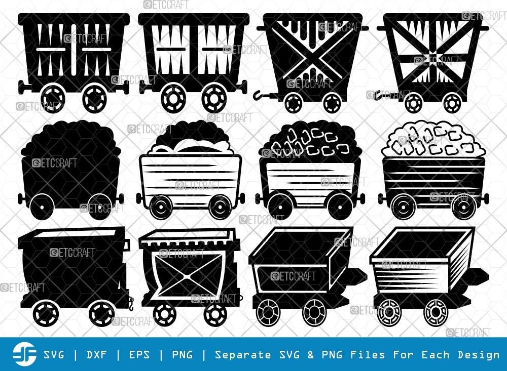 Mining Cart And Shovel SVG Cut Files