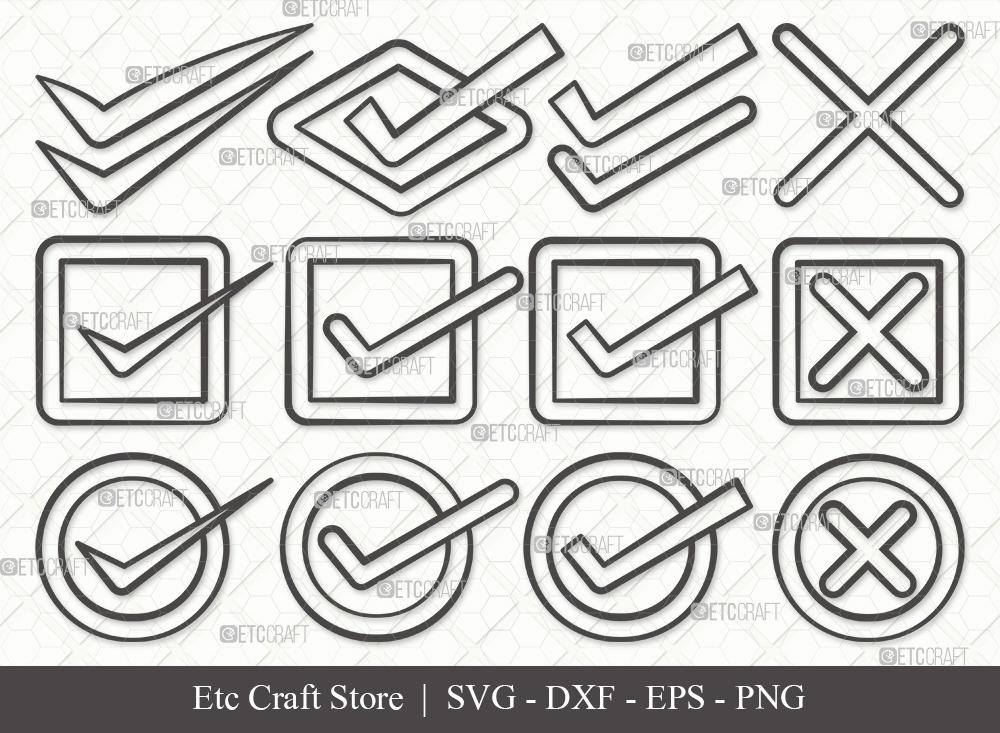 Check Mark Outline SVG Cut File | Tick Mark Svg