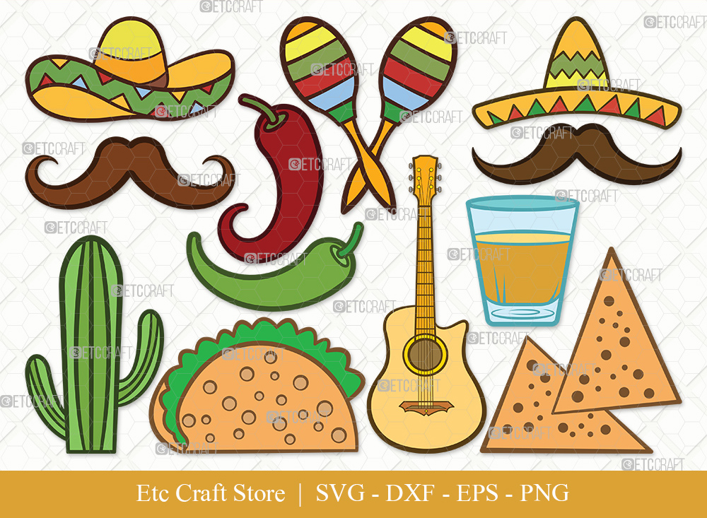 Mexican Clipart SVG | Cinco De Mayo Svg