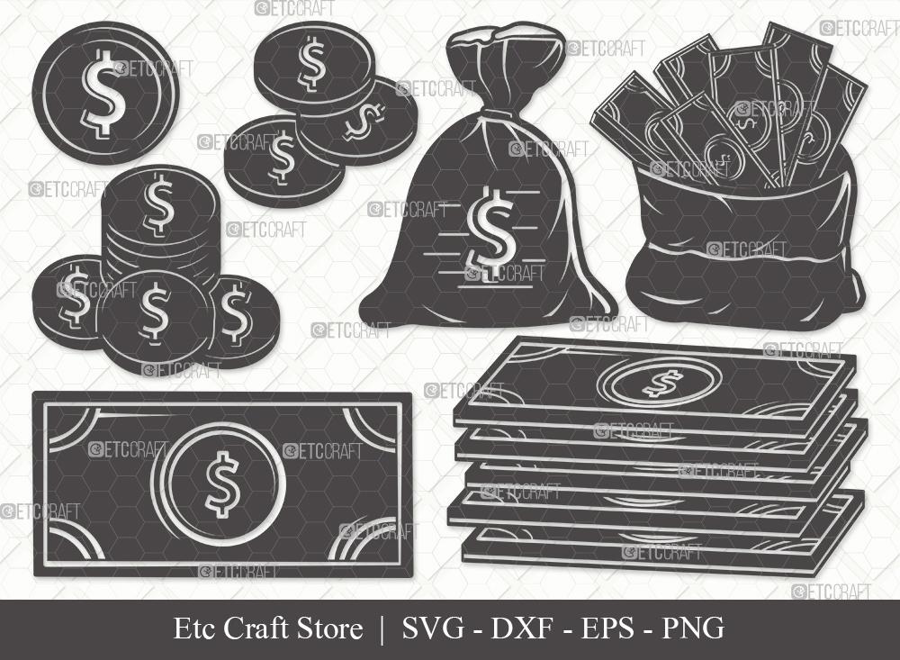 Money Silhouette SVG Cut File | Dollars Svg