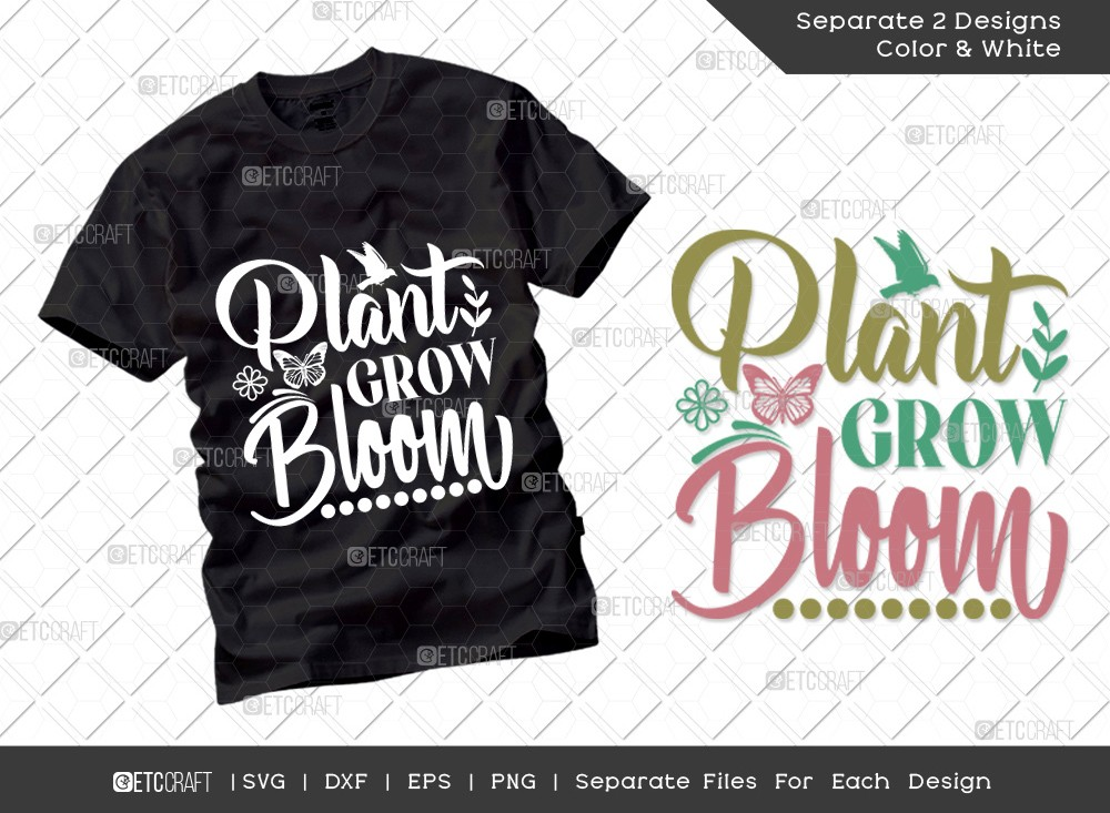 Plant Grow Bloom SVG Cut File | Hello Spring Svg