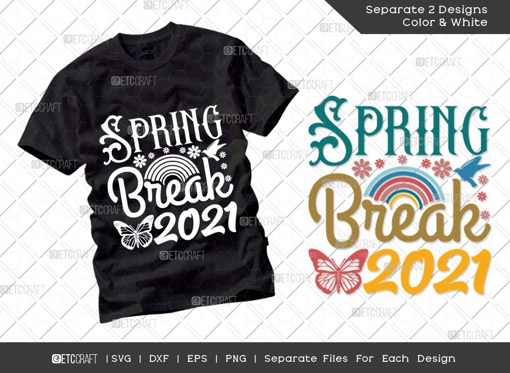 Spring Break 2021 SVG Cut File | Hello Spring Svg