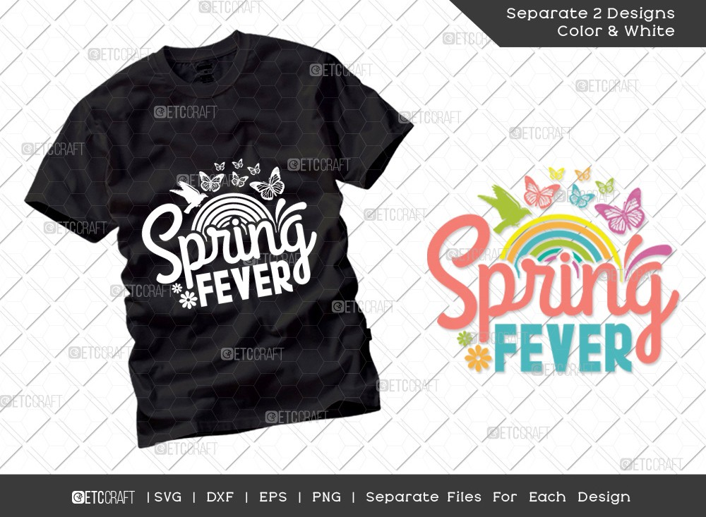 Spring Fever SVG Cut File | Hello Spring Svg