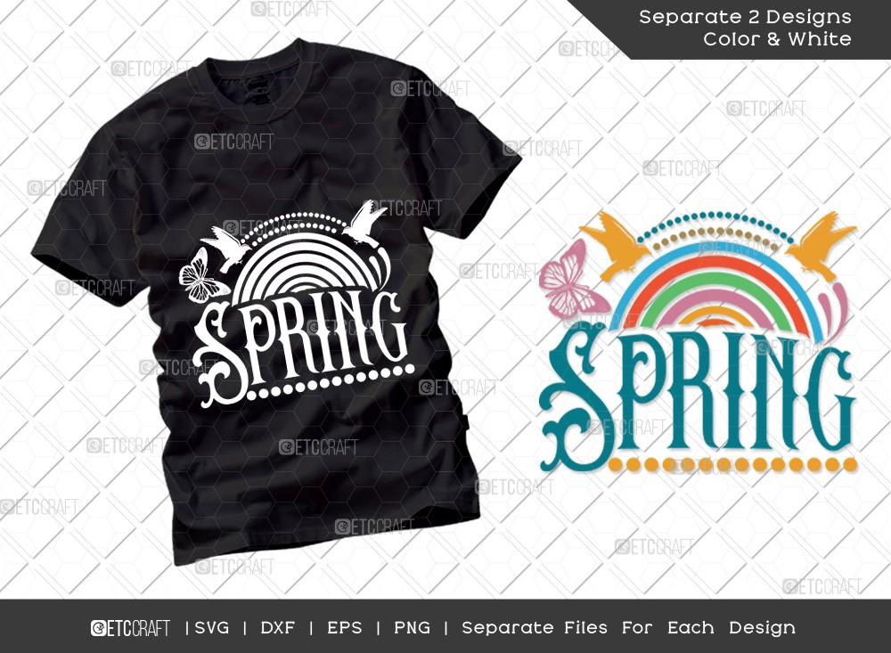 Spring SVG | Rainbow Svg | Hello Spring Svg