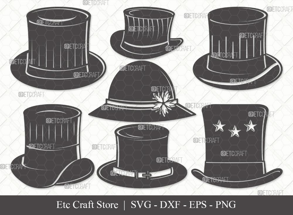 Top Hat Silhouette SVG Cut File   Party Hat Svg