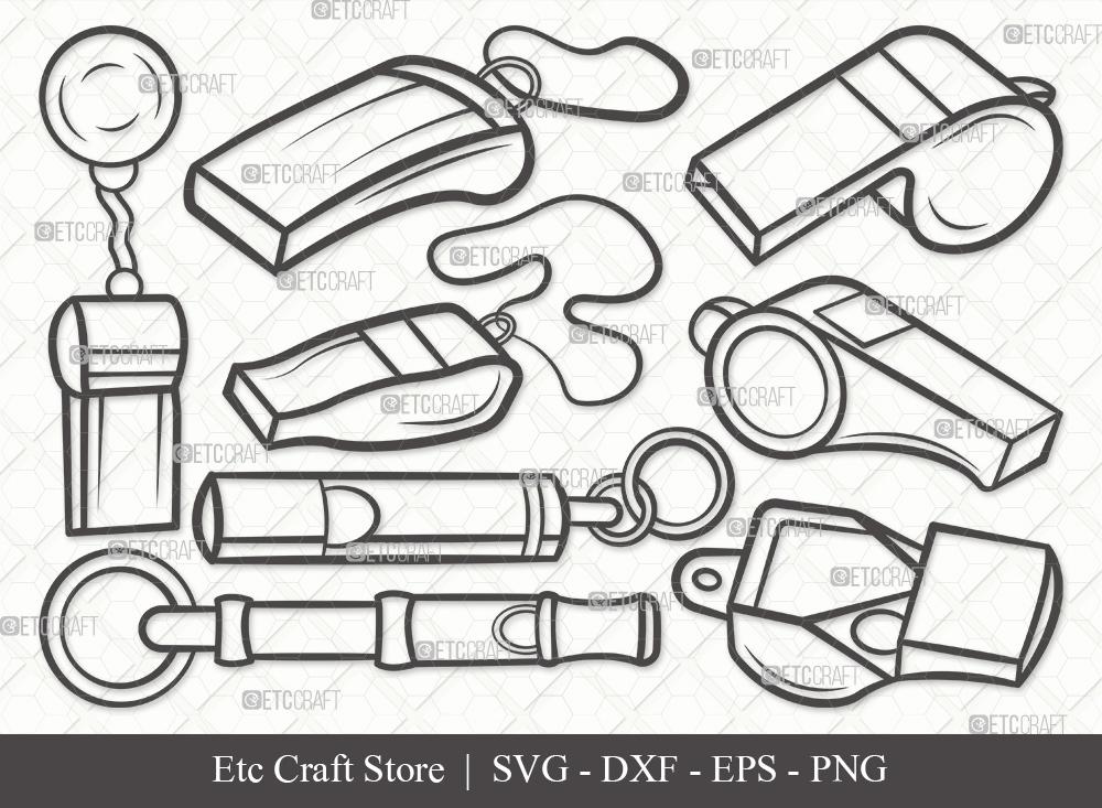 Whistle Outline SVG Cut File | Sport Svg
