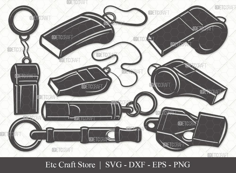 Whistle Silhouette SVG Cut File | Sport Svg