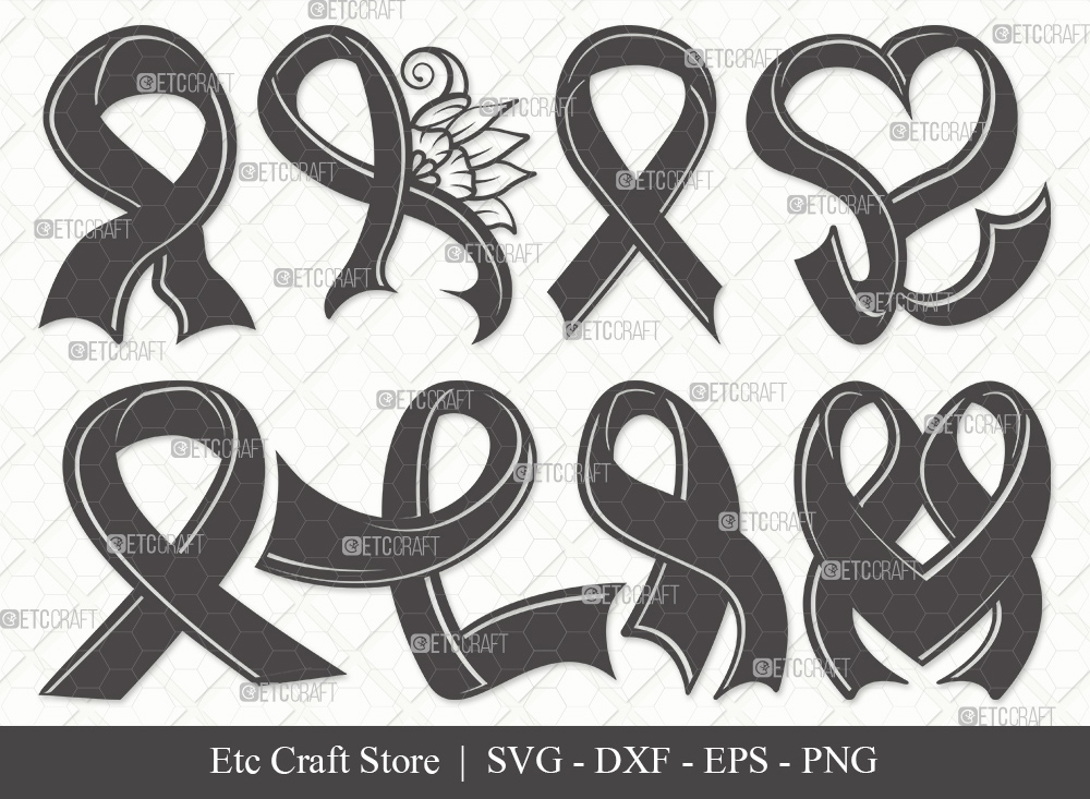 Awareness Ribbon Silhouette SVG | Ribbon Svg