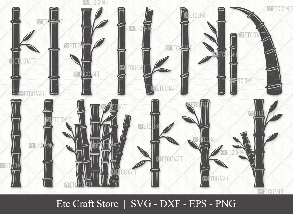 Bamboo Silhouette SVG | Bamboo SVG Bundle