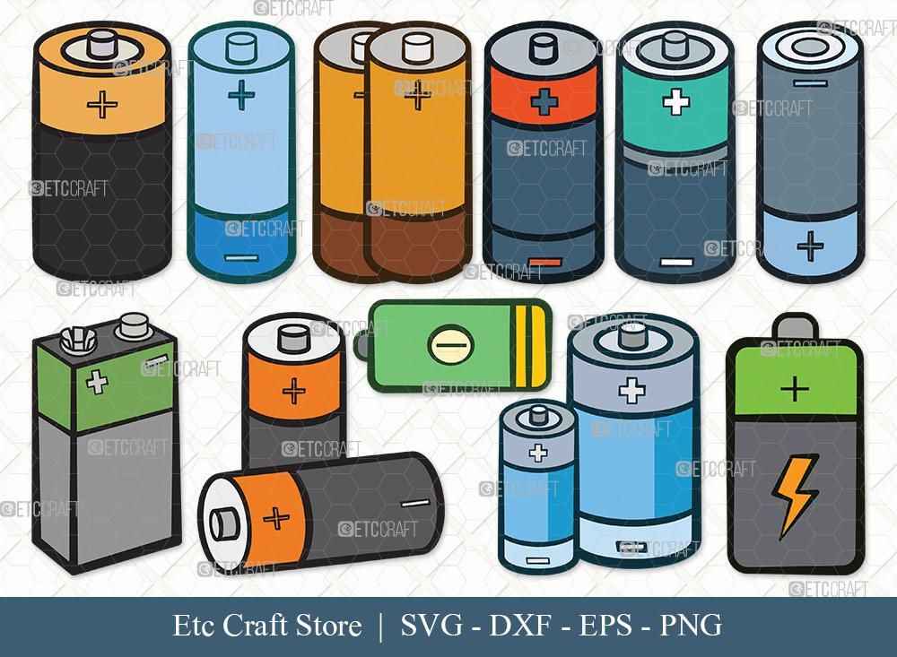 Battery Clipart SVG Cut File | Battery Svg
