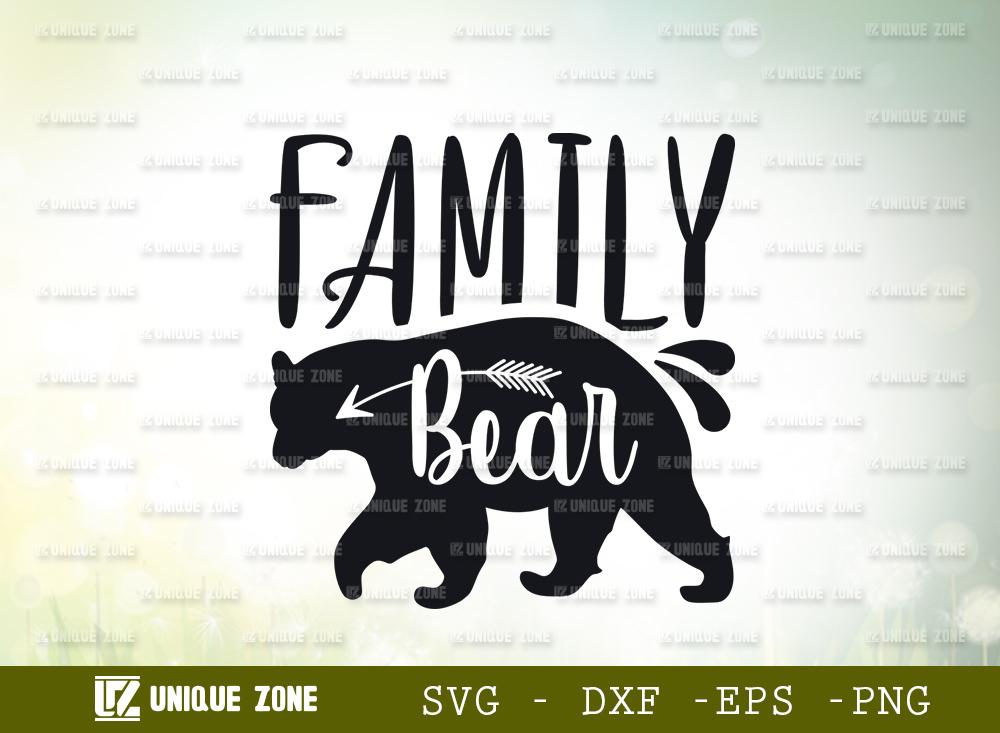 Bear Family SVG Cut File | Animal Svg