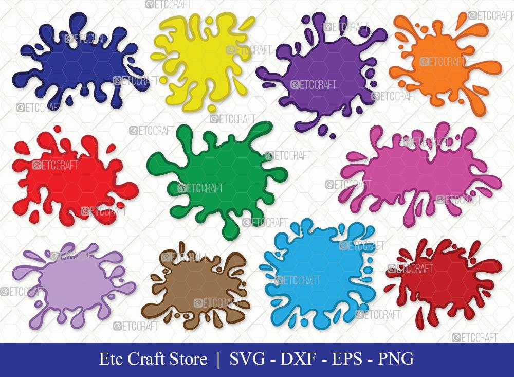 Ink Splatter Clipart SVG | Blood Splatter Svg