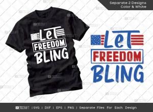 Let Freedom Bling SVG Cut File | Patriotic Svg