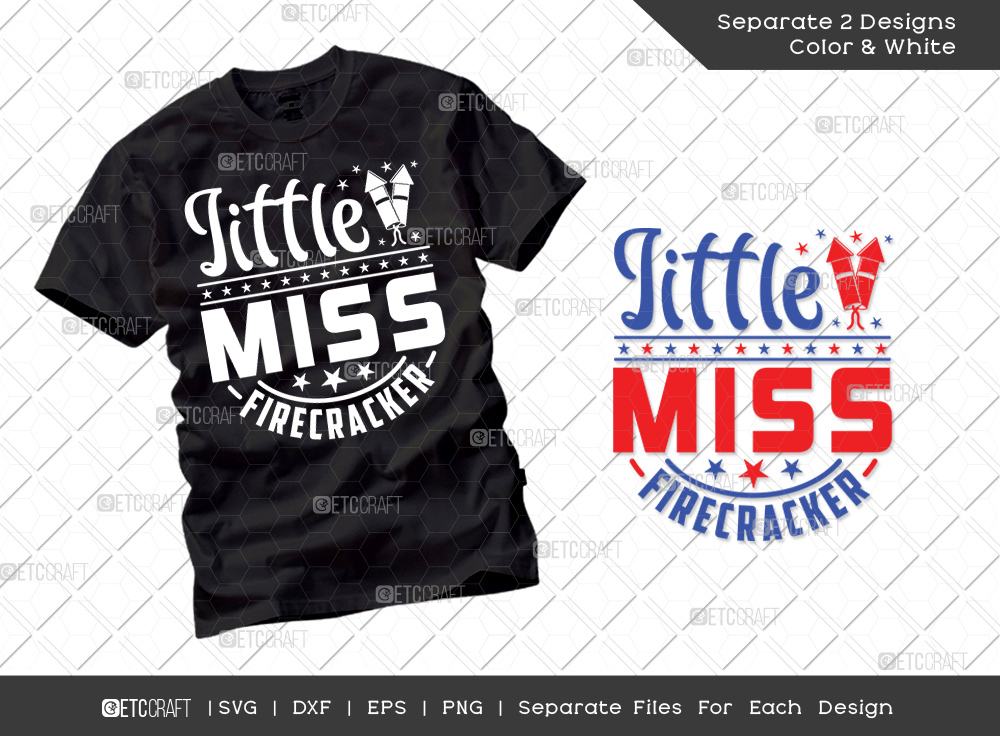 Little Miss Firecracker SVG | Independence Day