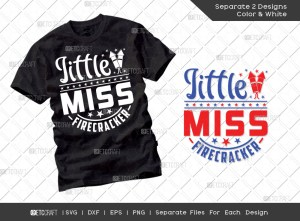 Little Miss Firecracker SVG | Independence Day