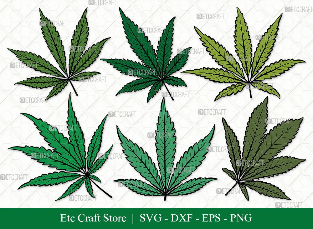Marijuana Leaf Clipart SVG | Weed Leaf SVG