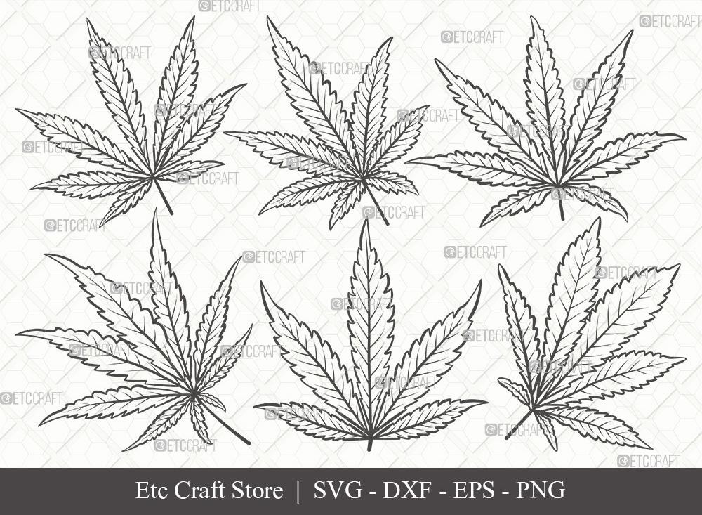 Marijuana Leaf Outline SVG | Weed Leaf Svg