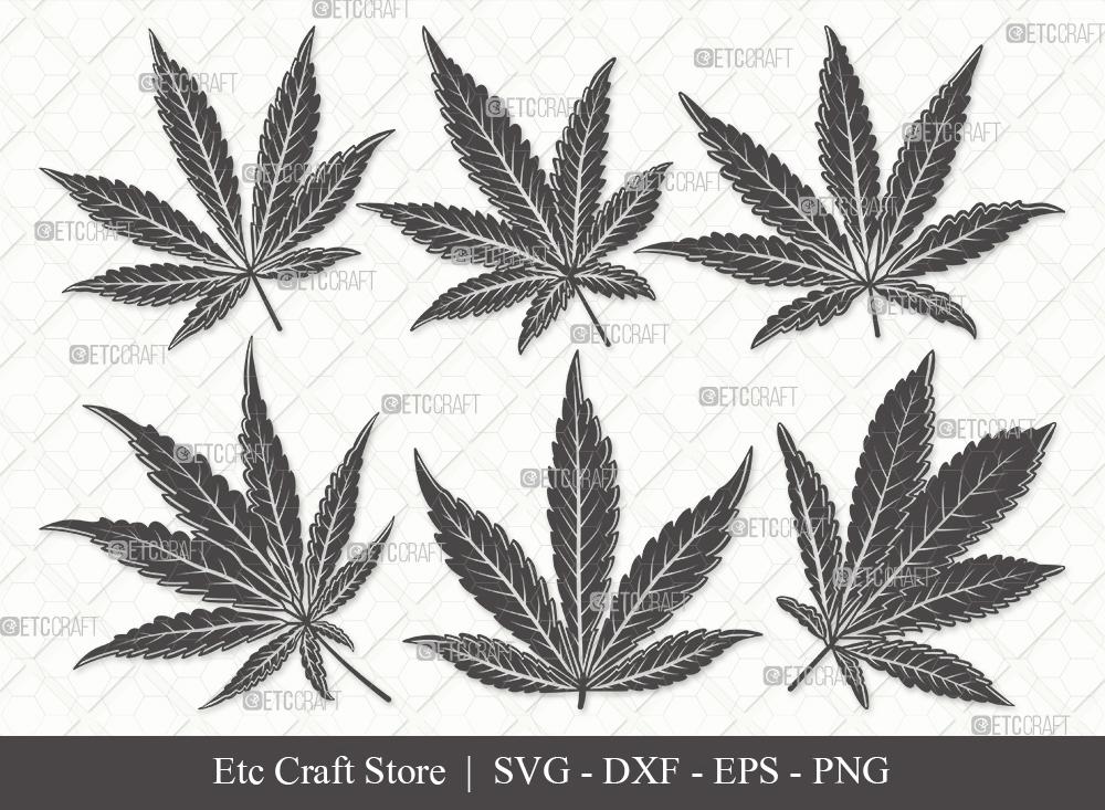 Marijuana Leaf Silhouette SVG | Weed Leaf SVG