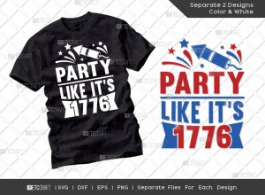 Party Like Its 1776 SVG | Independence Day Svg