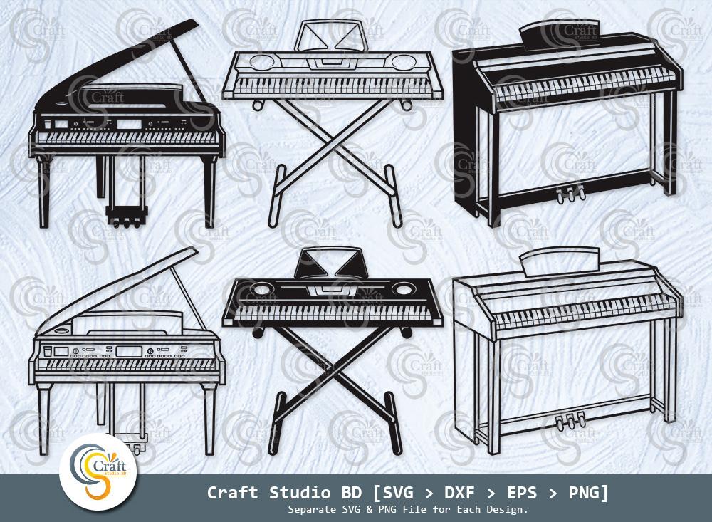 Piano Silhouette, Music SVG, Piano SVG Bundle