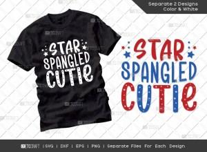 Star Spangled Cutie SVG | Fourth July SVG