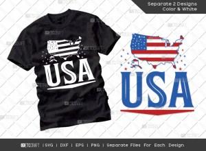 USA SVG Cut File | Independence Day Svg