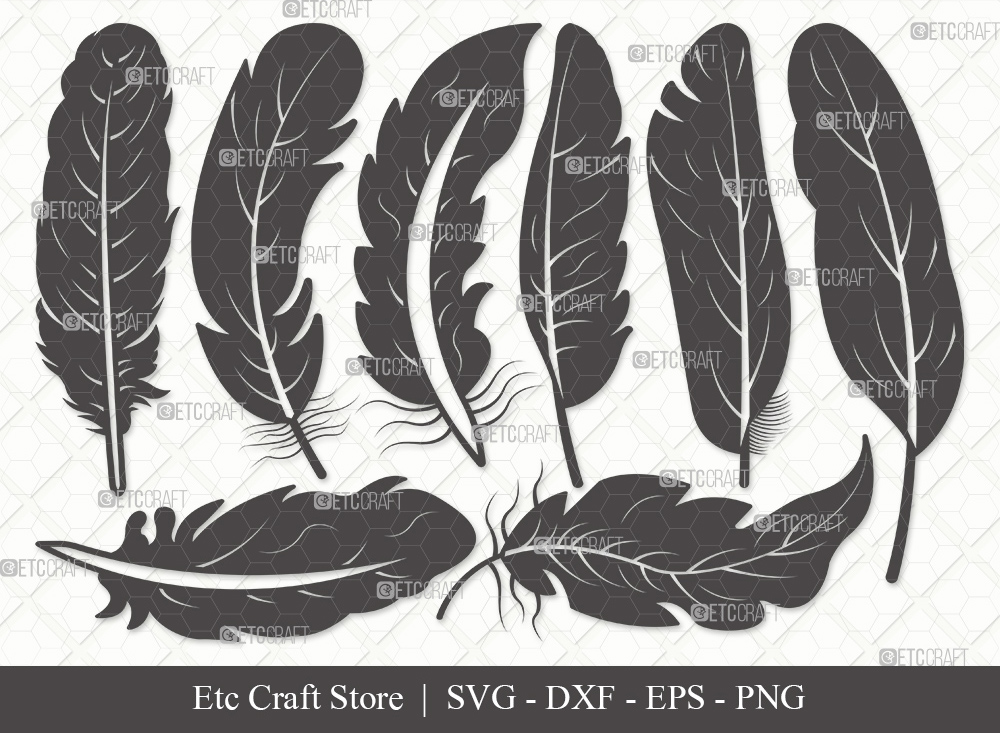 Feather Silhouette SVG | Feathers SVG Bundle