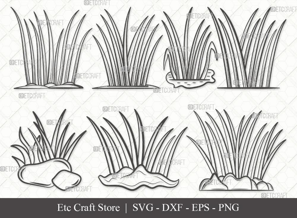Grass Outline SVG | Plants | Grass SVG Bundle