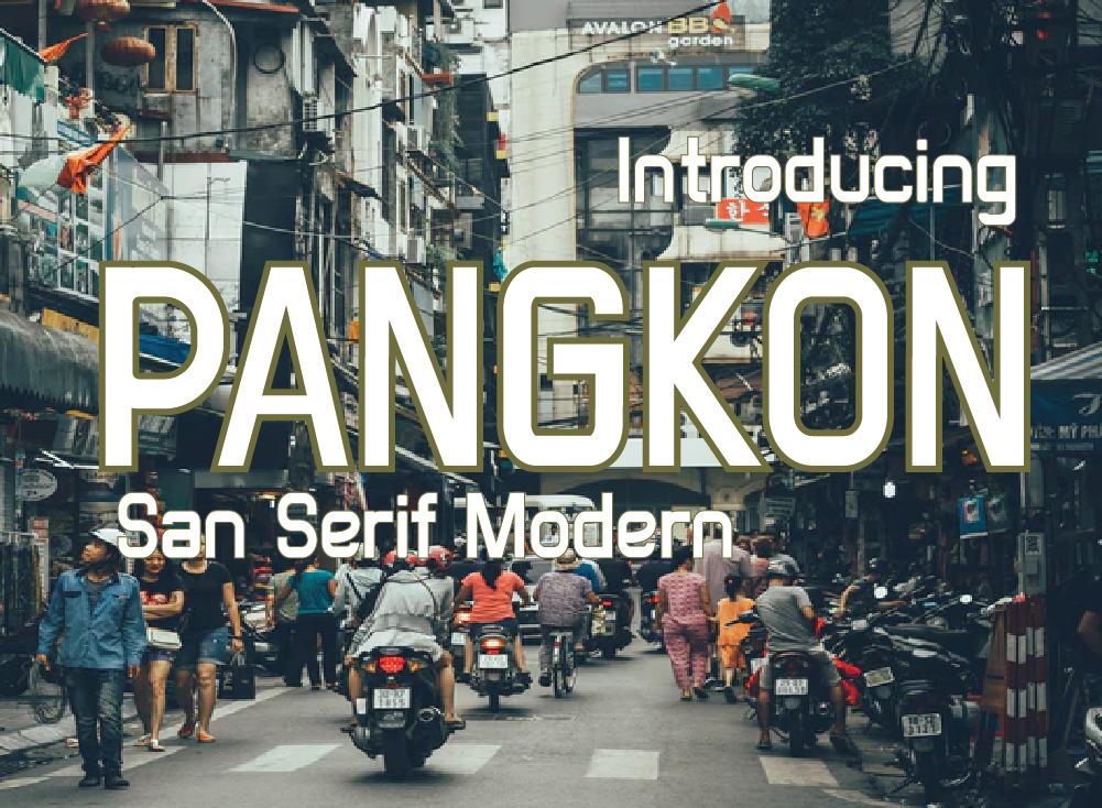 Pangkon Font, Minimal and Neat Sans Serif Font