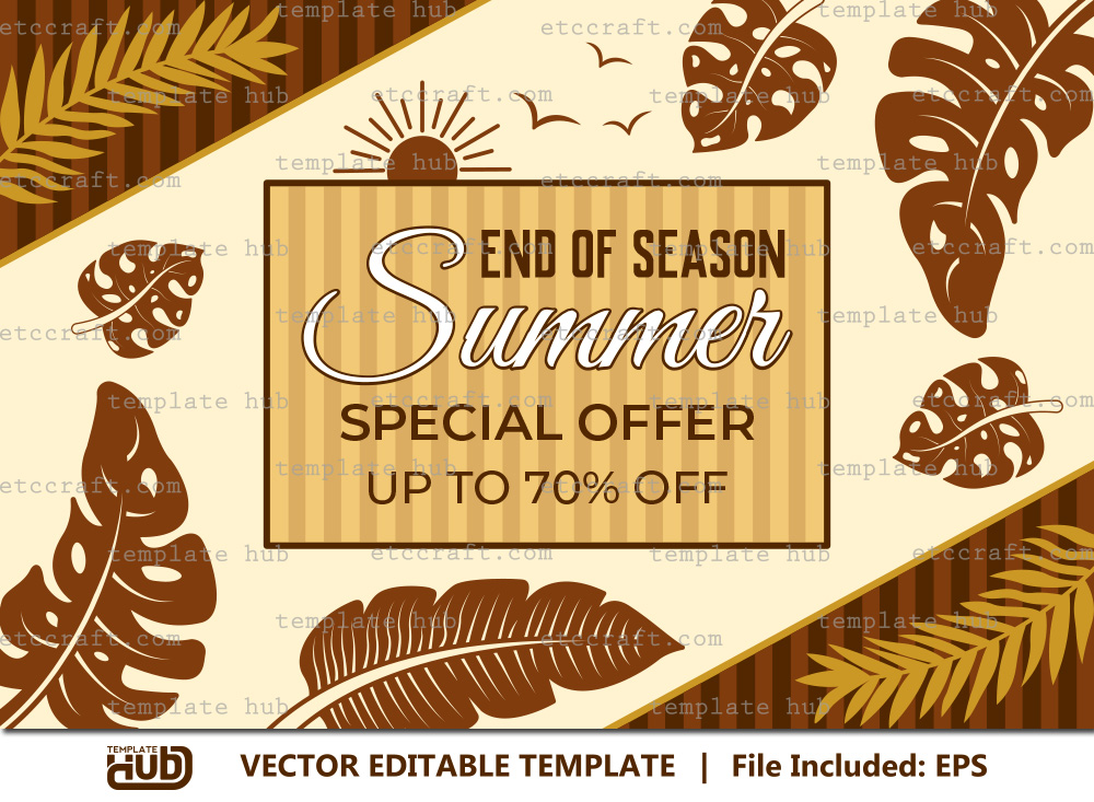 Summer Special Offer Template, Sales Banner