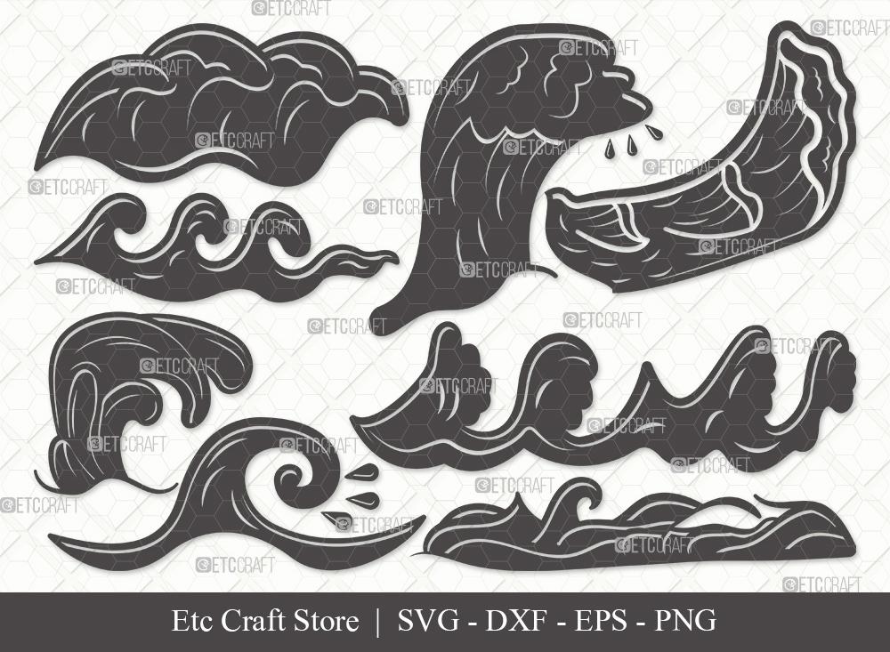 Waves Silhouette SVG | Sea Waves SVG Bundle