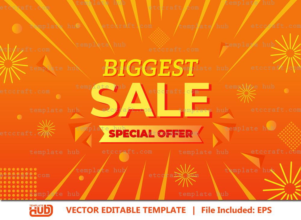 Biggest Sale Offer Banner, Sale Background