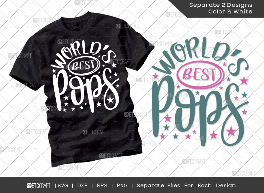 Worlds Best Pops SVG Cut File   Grandpa Svg