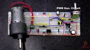 PWM Generator Circuit of Dc Motor Speed Controller
