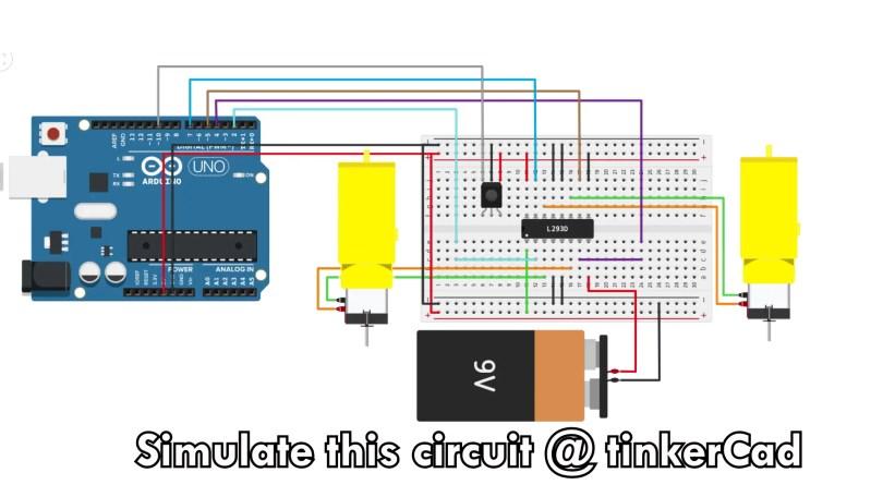 Circuit Diagram of Path Memorizing Robot