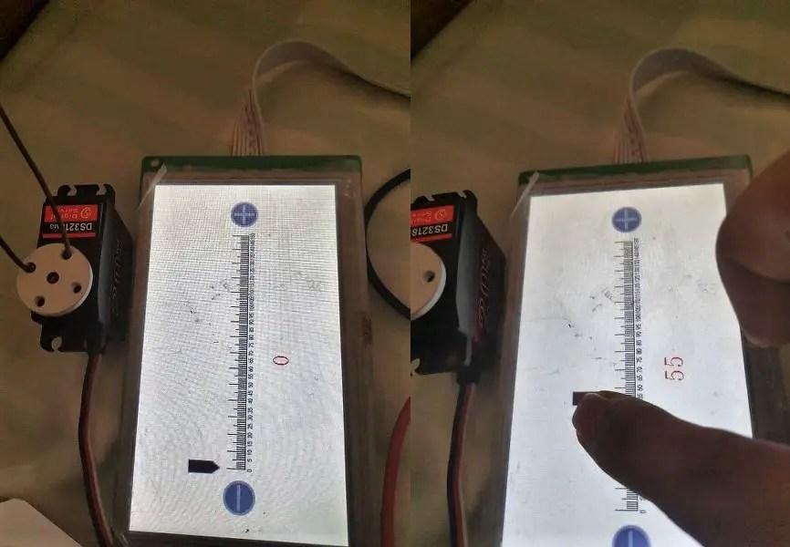 Servo motor control using LCD display interface with STM32 Dev Board